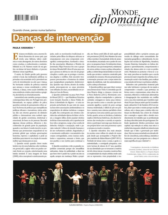 danças de intervenção